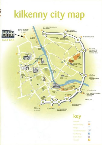 Map of Kilkenny City